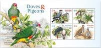 AUS 01/06/2021 Doves and Pigeons miniature sheet